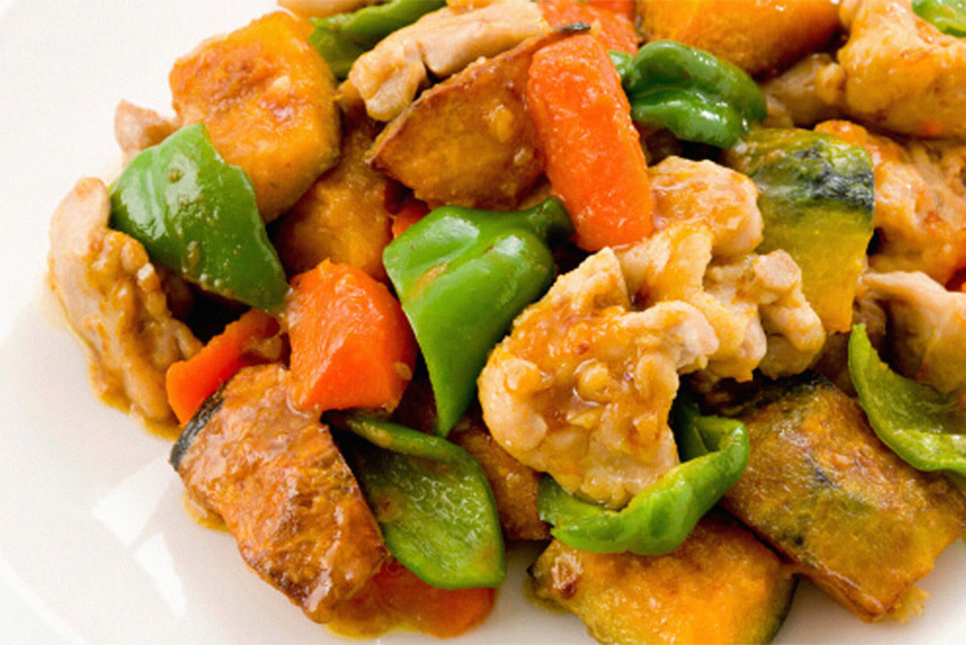 Chicken and Pumpkin Stirfry Recipe